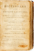 Books:Reference & Bibliography, Samuel Johnson. Dictionary of the English Language. London:C. Barhurst, et al, 1794. Eleventh edition. Contemporary...