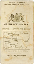 Books:Maps & Atlases, [Maps] Oxford University Officers' Training Corps Map. Ordnance Survey. No date. Unfolds to 28 x 20.25 inches. Some edgewear...