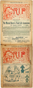 Books:Americana & American History, [Periodical] Two Issues of Grip. An Independent Journal of Humorand Caricature. 1892. Original wrappers. Some chipp...