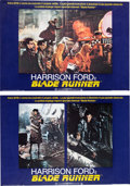Memorabilia:Poster, Blade Runner & Rollerball Harrison Ford, RutgerHauer, and Daryl Hannah Poster Group (Warner Brothers/Unit...(Total: 9 Items)