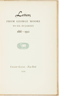 Books:Biography & Memoir, [George Moore]. SIGNED/LIMITED. Letters from George Moore to Ed.DuJardin, 1886 - 1922. New York: Crosby Gaige, 1929...