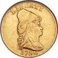 Early Quarter Eagles, 1796 $2 1/2 No Stars on Obverse, BD-2, R.4, XF40 NGC....