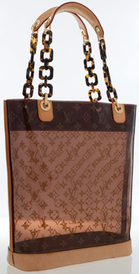 Louis Vuitton Classic Monogram Vinyl Ambre Cruise GM Tote Bag