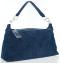 Chanel Blue Monogram Denim Hobo Bag