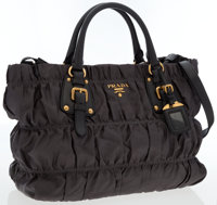 Prada Gray Tessuto Gaufre East West Satchel Bag
