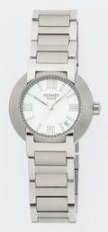 Luxury Accessories:Accessories, Hermes Stainless Steel Nomade Watch with Stainless Steel Strap. ...