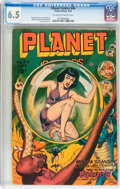 Golden Age (1938-1955):Science Fiction, Planet Comics #44 (Fiction House, 1946) CGC FN+ 6.5 Off-white towhite pages....