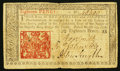 Colonial Notes:New Jersey, New Jersey March 25, 1776 18d Fine-Very Fine.. ...
