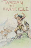 Original Comic Art:Miscellaneous, Frank Frazetta Tarzan the Invincible Paperback CoverPreliminary Artwork Original Art (Ace, 1963)....