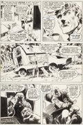 "Original Comic Art:Panel Pages, Bernie Wrightson Swamp Thing #2 ""The Man Who Wanted Forever""Page 14 Original Art (DC, 1972)...."
