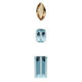 Estate Jewelry:Unmounted Gemstones, Unmounted Topaz. ... (Total: 3 Items)