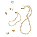 Estate Jewelry:Pearls, Cultured Pearl, Gold, White Gold Jewelry. ... (Total: 5 Items)