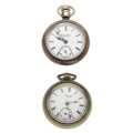 Timepieces:Pocket (post 1900), Elgin & Waltham 18 Sizes Pocket Watches. ... (Total: 2 Items)