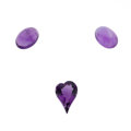 Estate Jewelry:Unmounted Gemstones, Unmounted Amethyst. ... (Total: 3 Items)