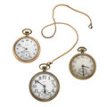 Timepieces:Pocket (post 1900), Three Elgin's Open Face Pocket Watches . ... (Total: 3 Items)