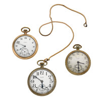 Three Elgin's Open Face Pocket Watches