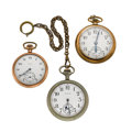 Timepieces:Pocket (post 1900), Three Open Face Elgin Pocket Watches . ... (Total: 3 Items)