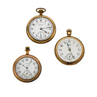 Three Open Face Pocket Watch For Parts Or Repair