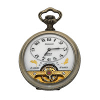 Arnex 8-Day Hebdomas Pocket Watch With Exposed Balance