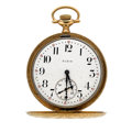 Timepieces:Pocket (post 1900), Elgin 14k Gold Hunter's Cases Pocket Watch. ...