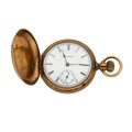 Timepieces:Pocket (post 1900), Illinois 10k Gold Hunter's Case Pocket Watch. ...