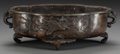 Asian:Japanese, A JAPANESE PATINATED BRONZE JARDINIÈRE. 4-1/2 x 15 x 10-1/4 inches(11.4 x 38.1 x 26.0 cm). Property of the Estate of Mr. ...
