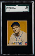Baseball Cards:Singles (1940-1949), 1949 Bowman Early Wynn #110 SGC 80 EX/NM 6....