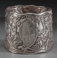 A GORHAM SILVER NAPKIN RING, Providence, Rhode Island, circa 1865 Marks: (lion-anchor-G), STERLING, 1760