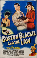 """Movie Posters:Crime, Boston Blackie and the Law (Columbia, 1946). One Sheet (25"""" X 39""""). Crime.. ..."""