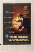 "Movie Posters:Crime, The Blue Gardenia (Warner Brothers, 1953). One Sheet (27"" X 41"").Crime.. ..."