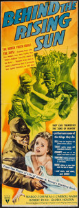 "Movie Posters:War, Behind the Rising Sun (RKO, 1943). Trimmed Insert (13.25"" X35.25""). War.. ..."