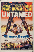 "Movie Posters:Adventure, Untamed (20th Century Fox, 1955). One Sheet (27"" X 41"").Adventure.. ..."