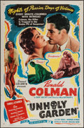 """Movie Posters:Romance, The Unholy Garden (Film Classics, R-Late 1940s). One Sheet (27"""" X41""""). Romance.. ..."""