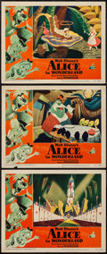 "Movie Posters:Animation, Alice in Wonderland (RKO, 1951). Lobby Cards (3) (11"" X 14""). Animation.. ... (Total: 3 Items)"
