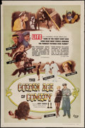 """Movie Posters:Documentary, The Golden Age of Comedy (20th Century Fox, 1958). One Sheet (27"""" X 41"""") Title Lobby Card & Lobby Cards (4) (approximately 1... (Total: 6 Items)"""
