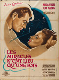 "Movie Posters:Foreign, Miracles Only Happen Once (Gamma-Jeannic Films, 1951). French Grande (46.25"" X 63""). Foreign.. ..."