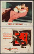 "Movie Posters:Hitchcock, North by Northwest (MGM, 1959). Title Lobby Card & Lobby Card(11"" X 14""). Hitchcock.. ... (Total: 2 Items)"