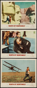 "Movie Posters:Hitchcock, North by Northwest (MGM, 1959). Lobby Cards (3) (11"" X 14"").Hitchcock.. ... (Total: 3 Items)"