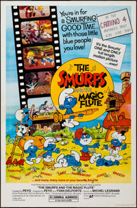 "The Smurfs and the Magic Flute & Others Lot (Atlantic Releasing, 1983). One Sheets (5) (27"" X 41""). Animat..."