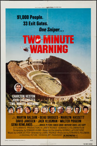 "Two-Minute Warning & Others Lot (Universal, 1976). One Sheets (3) (27"" X 41"") & Lobby Cards (6..."