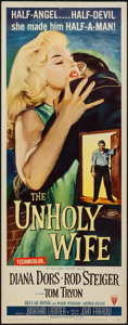 "Movie Posters:Crime, The Unholy Wife (RKO, 1957). Insert (14"" X 36""). Crime.. ..."