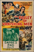 """Movie Posters:Serial, The Valley of Vanishing Men (Columbia, 1942). One Sheet (27"""" X 41""""), Chapter 15 -- """"Empire's End."""" Serial.. ..."""