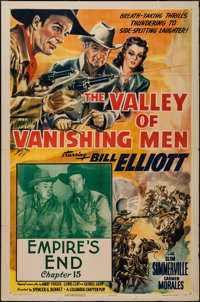 "The Valley of Vanishing Men (Columbia, 1942). One Sheet (27"" X 41""), Chapter 15 -- ""Empire's End."" S..."