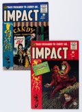Golden Age (1938-1955):Horror, Impact #2 and 3 Group (EC, 1955).... (Total: 2 Comic Books)