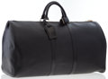 Luxury Accessories:Bags, Louis Vuitton Black Epi Leather Keepall 60 Weekender Bag. ...
