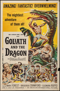 """Goliath and the Dragon (American International, 1960). One Sheet (27"""" X 41""""), Lobby Card Set of 8. Adventure..."""