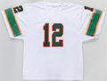 Football Collectibles:Uniforms, Jim Kelly Signed Miami Hurricanes Jersey....