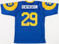 Football Collectibles:Uniforms, Eric Dickerson Signed Los Angeles Rams Jersey....