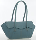 Luxury Accessories:Bags, Tod's Light Blue Leather Corniche Shoulder Bag . ...