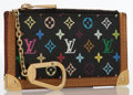 Luxury Accessories:Accessories, Louis Vuitton Black Monogram Multicolore Canvas Coin Purse. ...